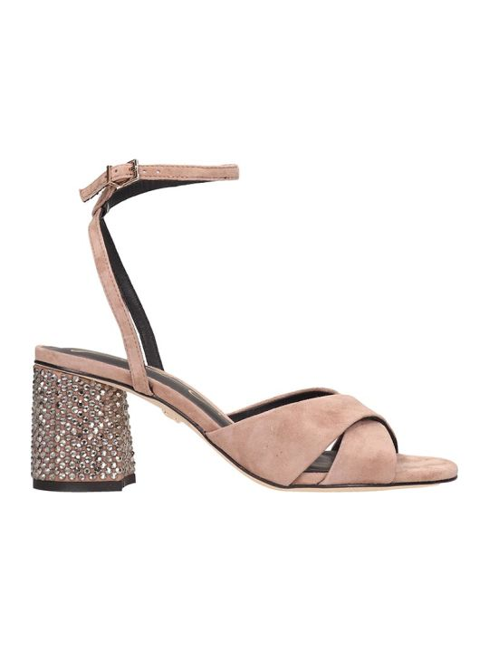 Lola Cruz Taupe Suede Sandals