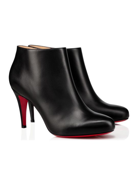 Christian Louboutin Belle 85 Ankle Boots In Black Leather