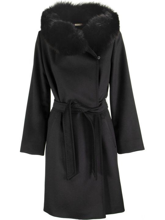 Max Mara Mango Wool Coat With Fur