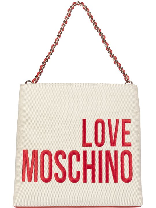 Love Moschino Embroidered Logo Tote