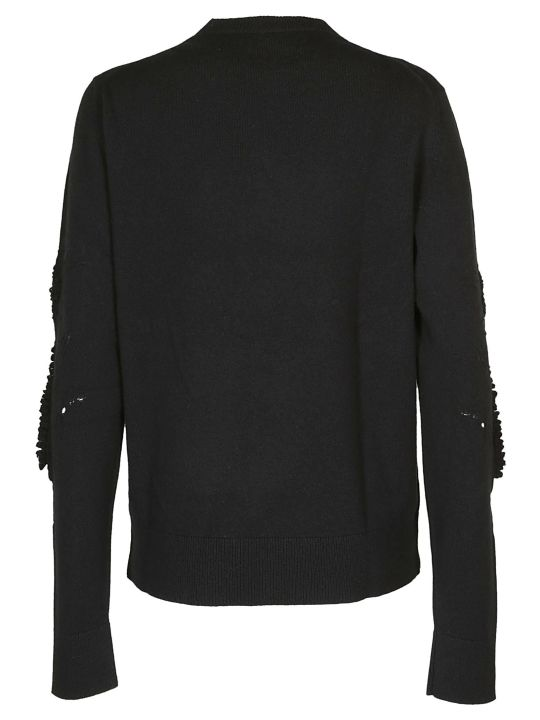 Barrie Textured Sleeves Sweater