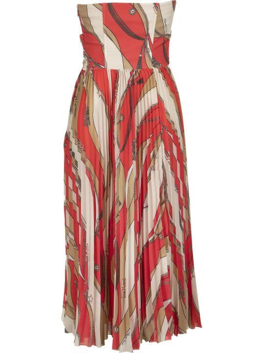 Elisabetta Franchi Celyn B. Calf-length Dress With Pleated Skirt