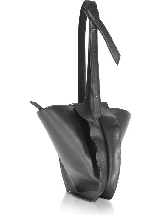 Giaquinto Bloom Mini Black Shoulder Bag