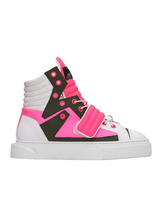 Gienchi Hypnos Sneakers In White Tech/synthetic