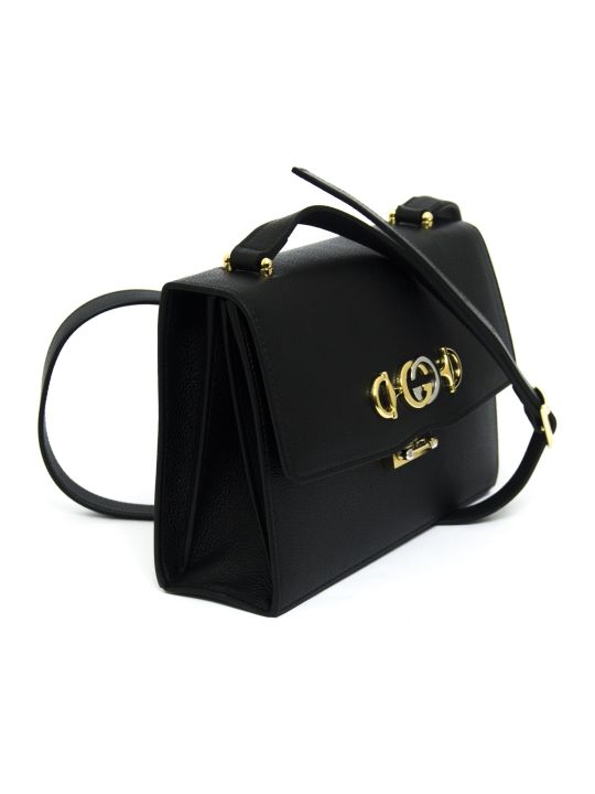 Gucci Gucci Zumi Black Leather Small Shoulder Bag