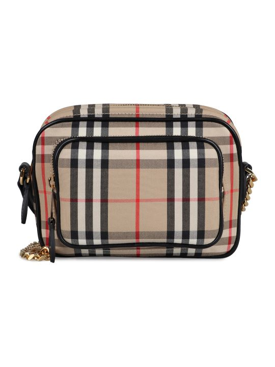 Burberry Check Canvas Camera Bag