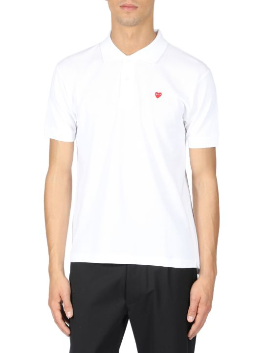 Comme des Garçons Play Comme Des Garcons Play Play Polo Shirt Red Heart