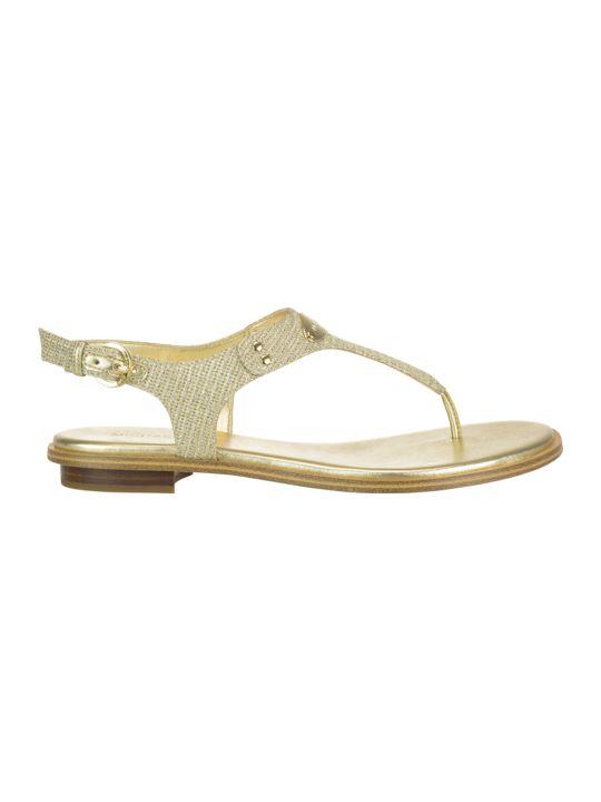 Michael Kors Mk Plate Thong Sandals