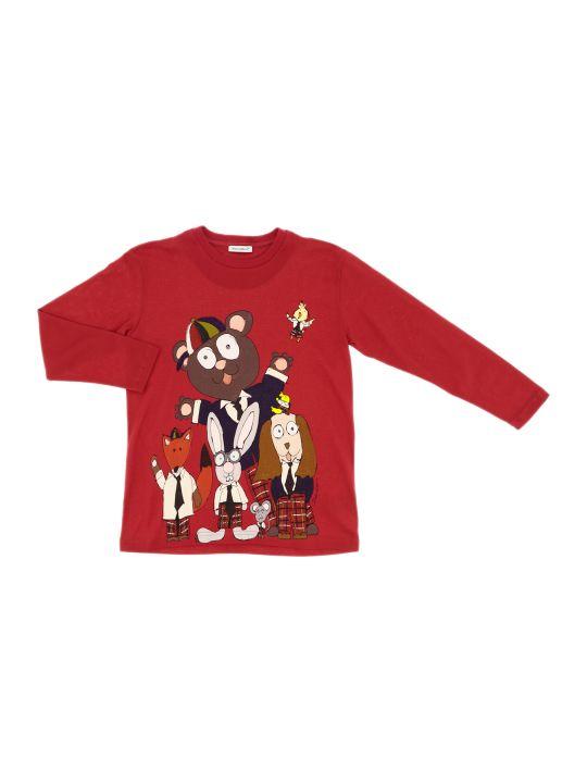 Dolce & Gabbana T-shirt Manica Corta Bks Fondo Rosso