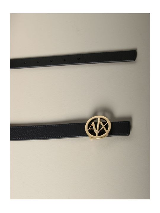 Armani Collezioni Armani Exchange Belt Armani Exchange Belt In Grained Synthetic Leather