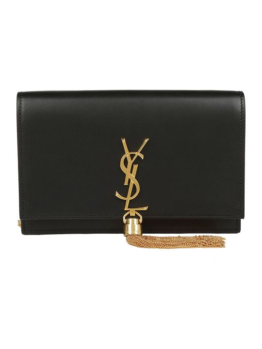 Saint Laurent Kate Monogram Chain Wallet