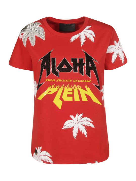 Philipp Plein Aloha Embroidered T-shirt
