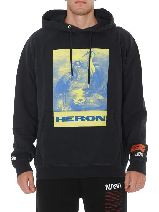 HERON PRESTON Black Heron Hoodie