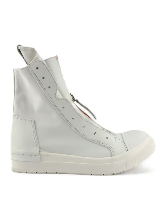 Cinzia Araia High-top Sneaker In White Leather