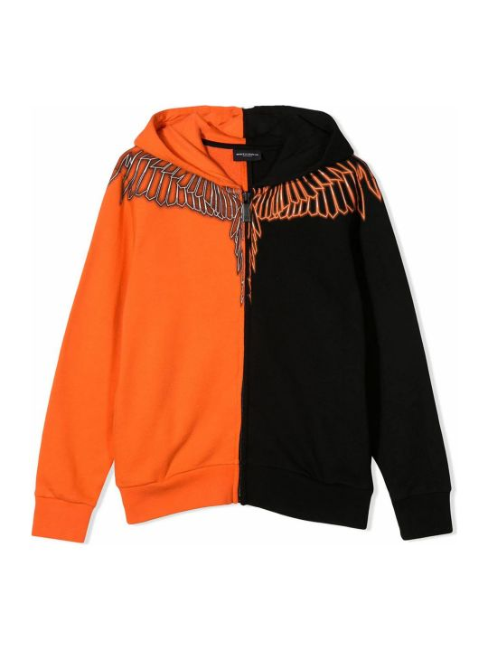 Marcelo Burlon Black And Orange Cotton Sweatshirt
