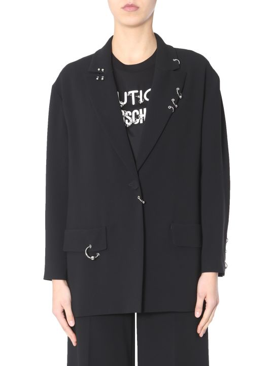 Boutique Moschino Single-breasted Crêpe Jacket