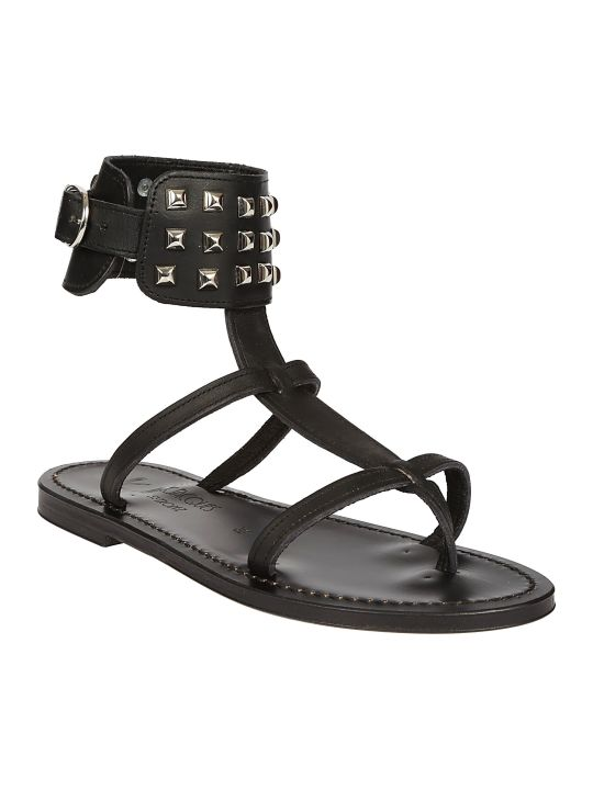 K.Jacques Studded Ankle Sandals