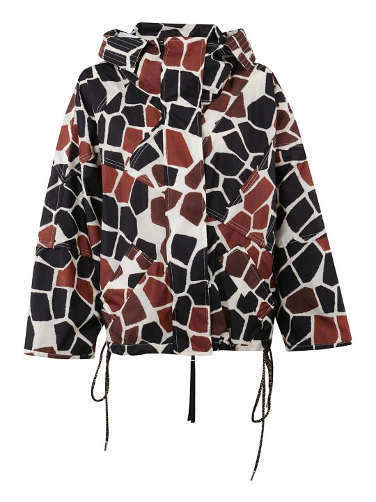 Moncler Genius All-over Print Oversized Jacket