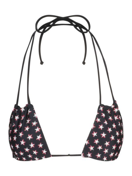 Saint Laurent Star Print Bikini Top