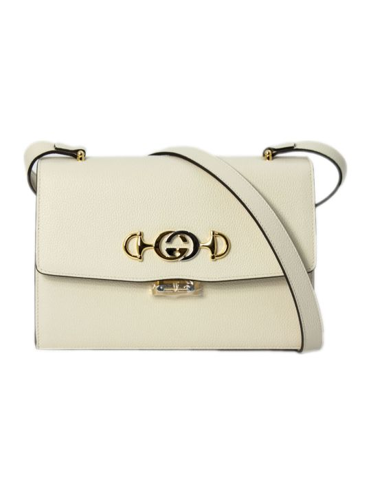 Gucci Gucci Zumi White Leather Shoulder Bag