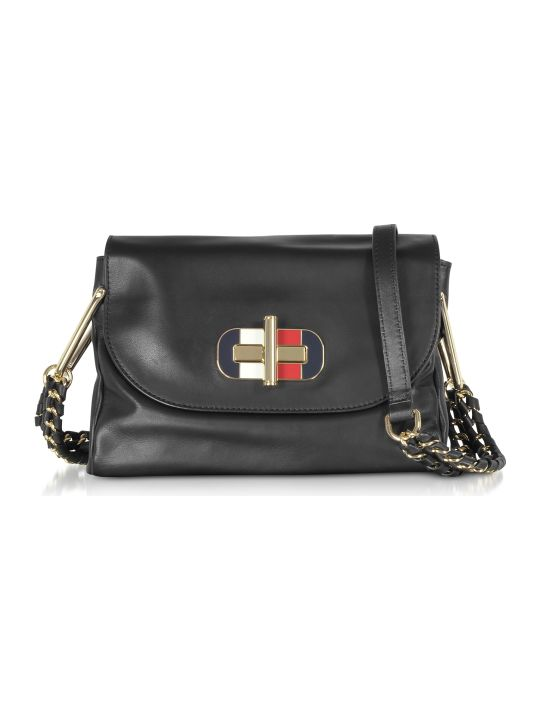 Tommy Hilfiger Black Soft Turnlock Mini Crossbody Bag