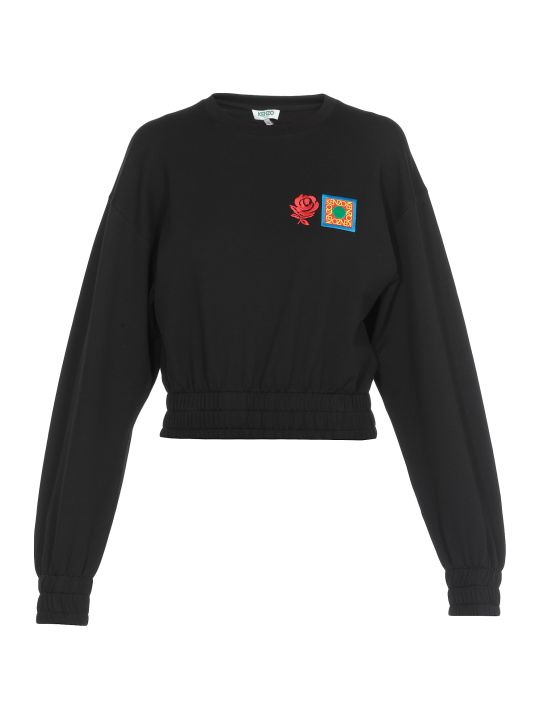 Kenzo Cropped Cotton Sweatshirt