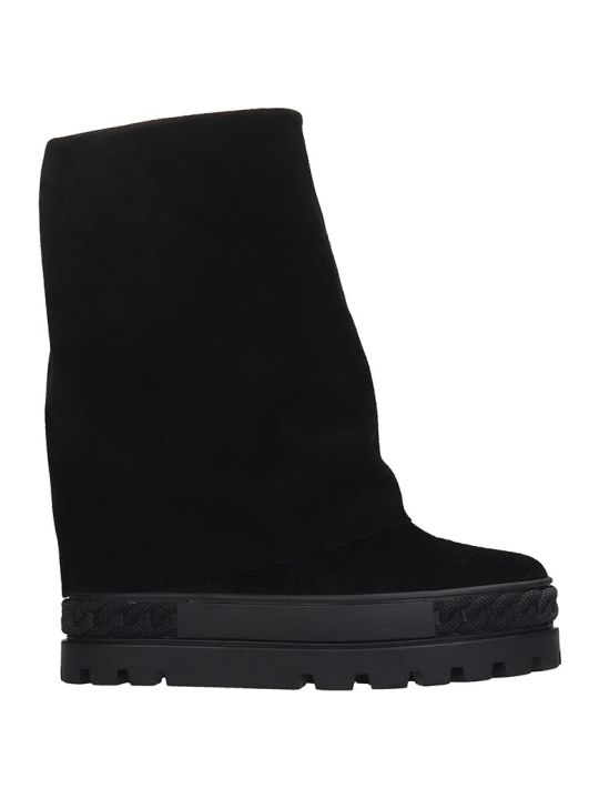 Casadei Sneakers In Black Suede