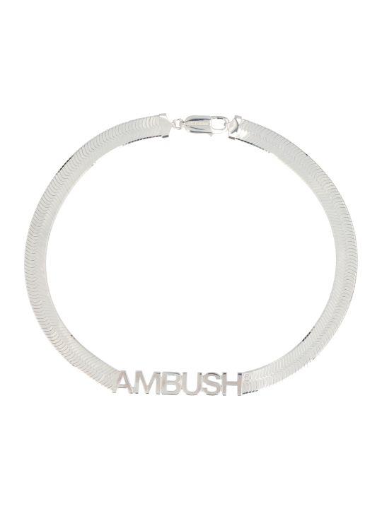 AMBUSH 'herringbone Logo' Necklace
