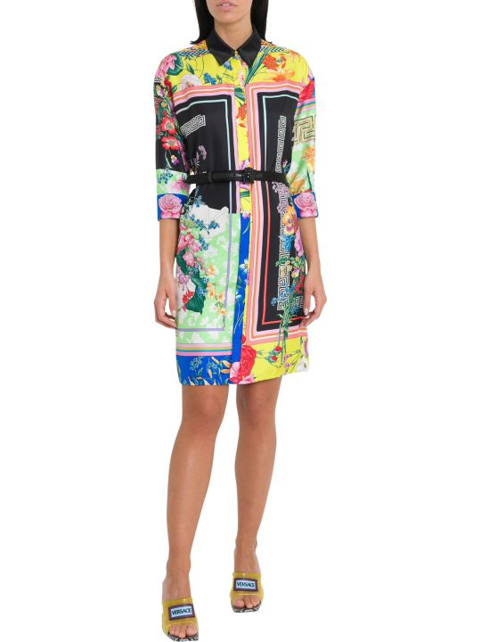 Versace Print Mix Shirt Dress