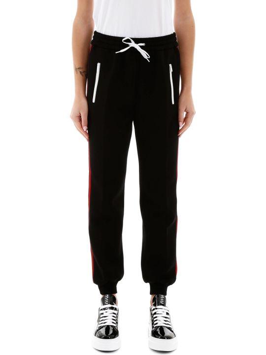 Miu Miu Jogging Pants With Logo Bands