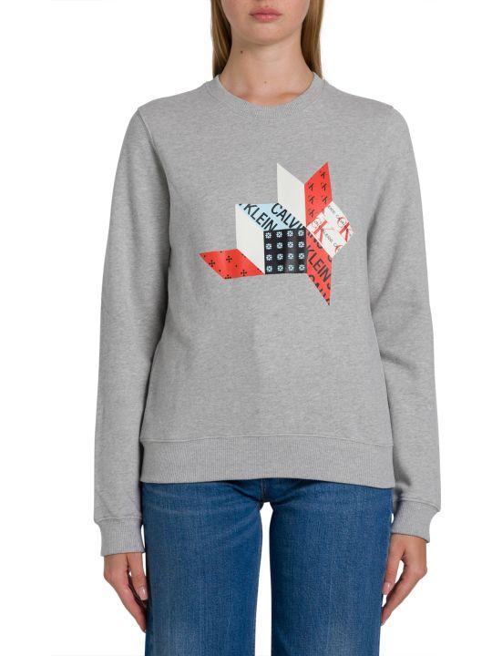 Calvin Klein Jeans Patchwork Print Sweatshirt