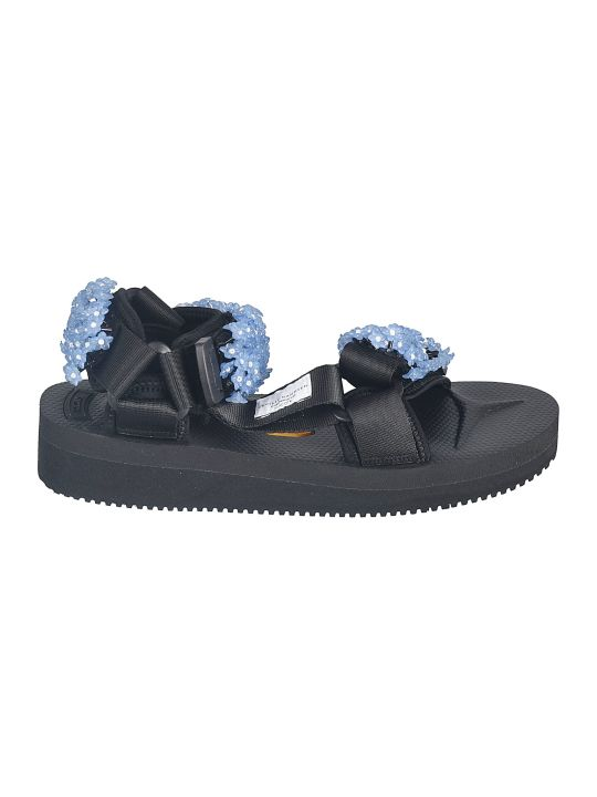 Cecilie Bahnsen Floral Applique Sandals
