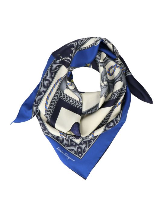 Salvatore Ferragamo 'animals And Flowers' Foulard