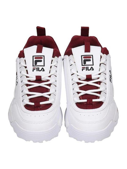 Fila Distruptor Cb  Sneakers In White Leather