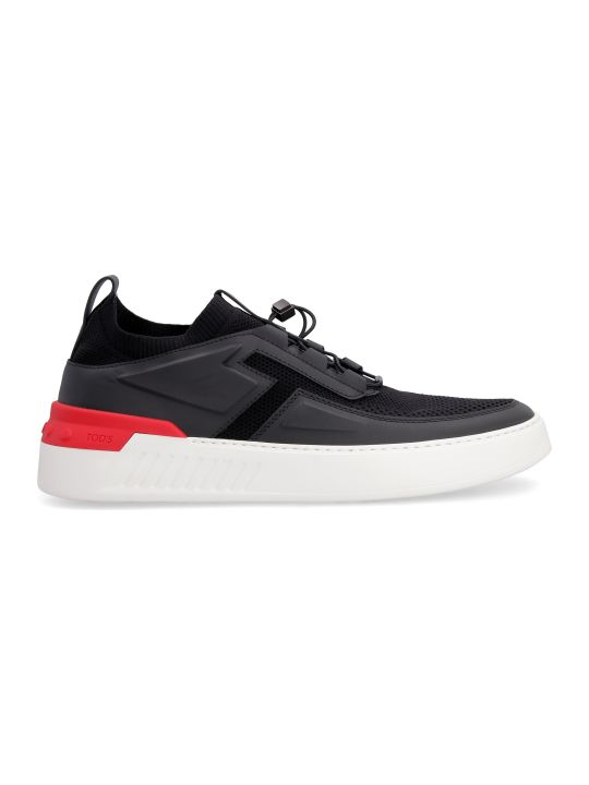 Tod's No Code 03 Techno-fabric And Leather Sneakers