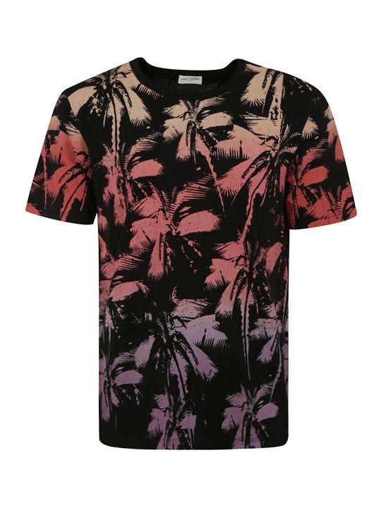 Saint Laurent Tropical Print T-shirt