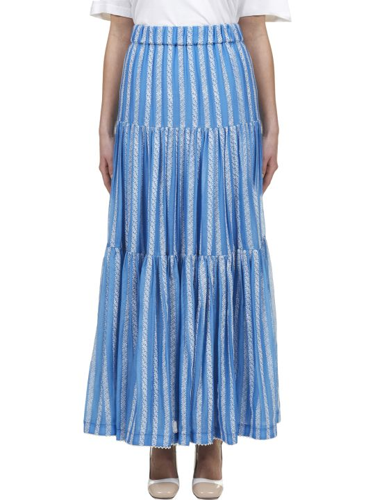 Tory Burch Embroidered Maxi Skirt