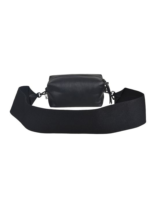 Y's Wide Strap Leather Shoulder Bag