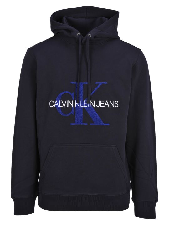 Calvin Klein Jeans Hooded Fleece Logo Front