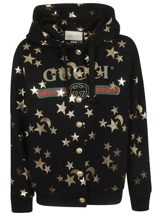Gucci Buttoned Hoodie