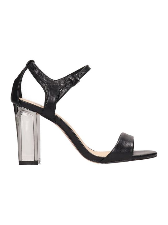 Bibi Lou Black Leather Sandals