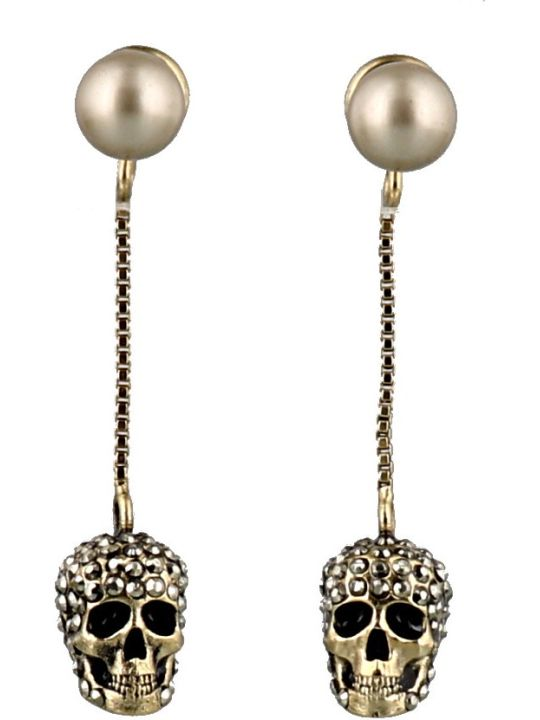 Alexander McQueen Pave Skull Earrings