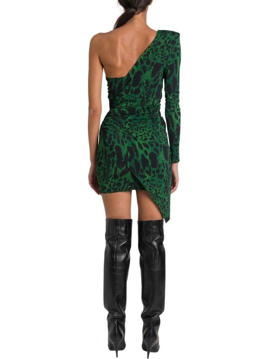 Alexandre Vauthier Leopard Asymmetric Mini Dress