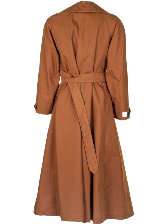 Max Mara The Cube D Trench Coat Dark Amber