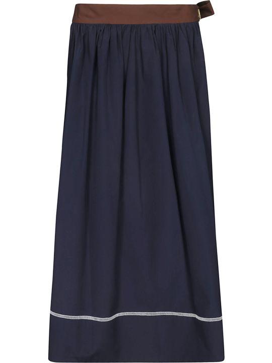 Marni Contrast Piping Midi Skirt