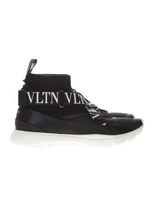 Valentino Garavani Black Sneakers Vltn Heroes
