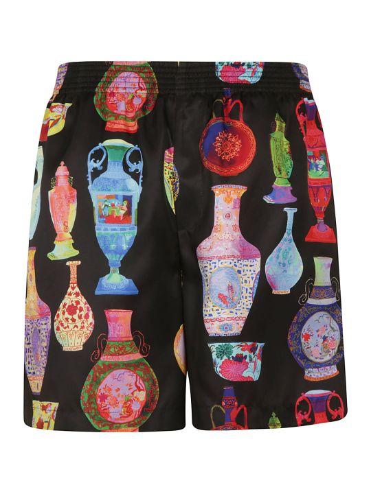 Versace Multi Vase Print Shorts