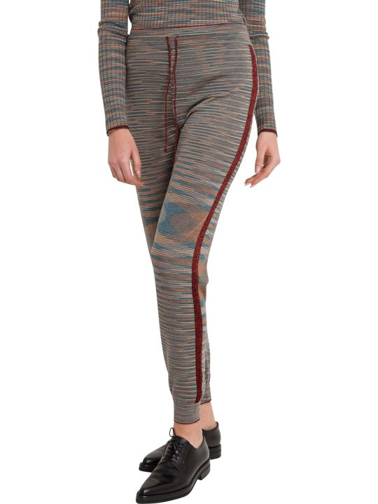 M Missoni Slub Fabric Joggers With Lurex Details