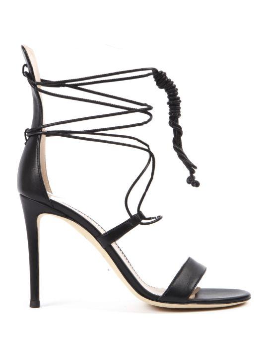 Giuseppe Zanotti Black Leather Sandals