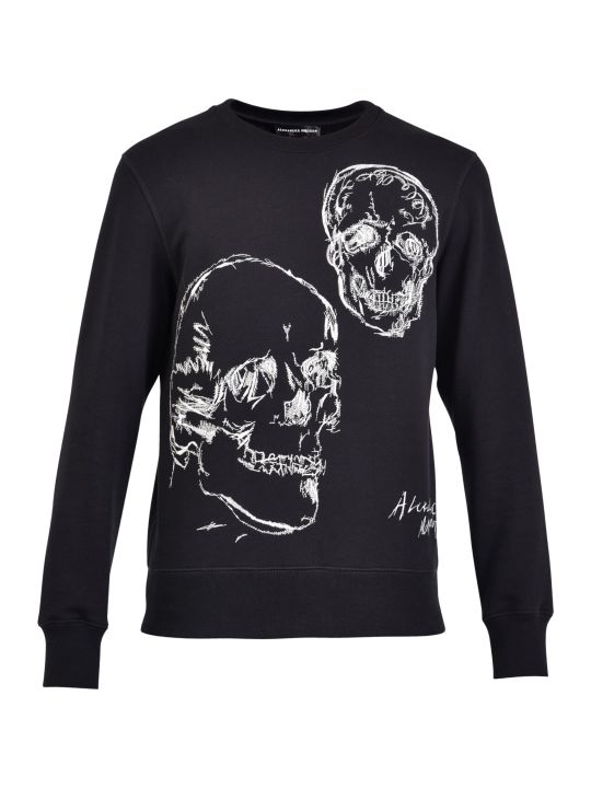 Alexander McQueen Embroidered Cotton And Wool Sweatshirt